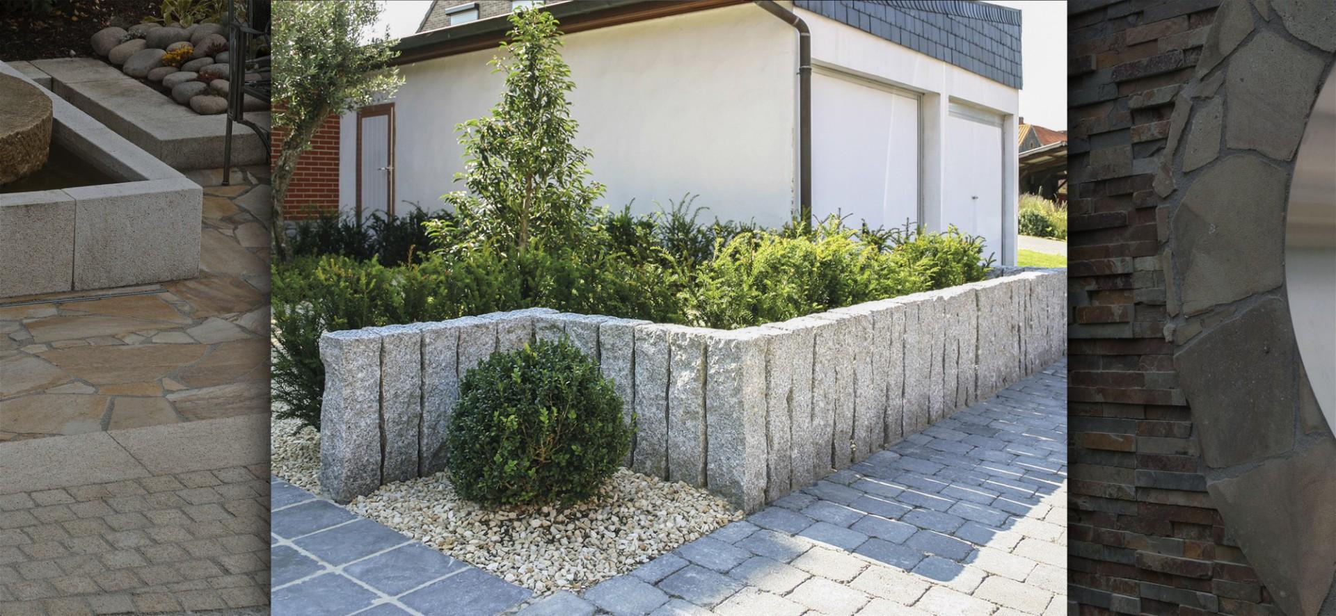 natursteinpflaster und gestaltungselemente